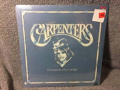 """Laser Disc """"Carpenters,Yesterday Once More"""" 12"""" Disc sealed NOS"""