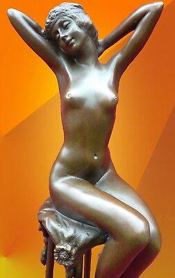 ART DECO BRONZE AWAKENING SIGNED D.H.Chiparus STATUE FIGURE SCULPTURE