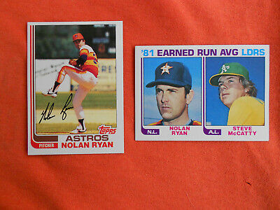 1982 Topps Baseball Cards Nolan Ryan #90 #167 NM/MT NICE