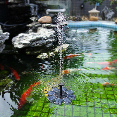 KQ_ Solar Power Fountain Water Pump Floating Panel Garden Pool Pond Watering Kit