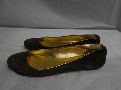 Womens J CREW Suede Leather Ballet Flats Size 9.5 Camel Brown