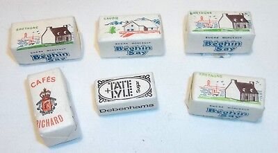 Vintaged Packaged Sugar Cubes from Paris, France