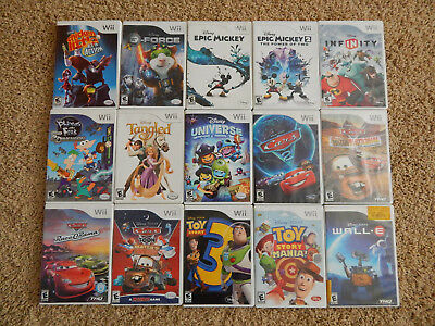 Nintendo Wii Disney Games! You Choose from Selection! Many Titles!