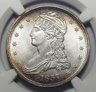 1837 Ngc Ms64 Capped Bust Half Dollar