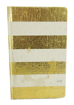 KATE SPADE NEW YORK Vanilla/Gold  Stripe Agenda 2017  $40.00