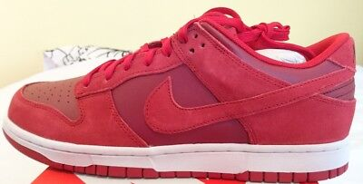 detailed look eddd8 0448e Nike Dunk Low Gym Red White Uk 9.5 Mens Trainers 904234 601 Bnib Suede  Leather