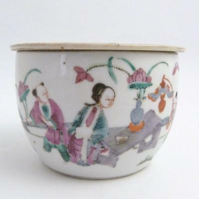 Late 19Th / Early 20Th Century Chinese Qianjiang Porcelain Bowl And Cover