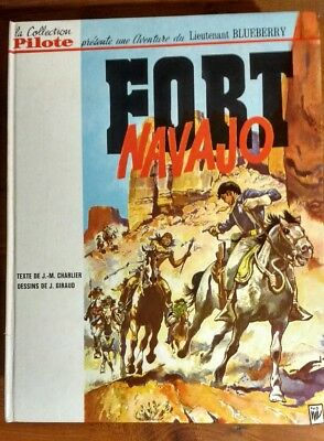 Blueberry N° 1 : Fort Navajo Rare Eo Col Pilote 1965 Jean Giraud Charlier Tbe+++