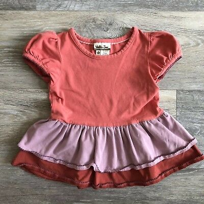 Matilda Jane Hide and seek Ruffle Top Girls Size 2 Tee Shirt Secret Fields