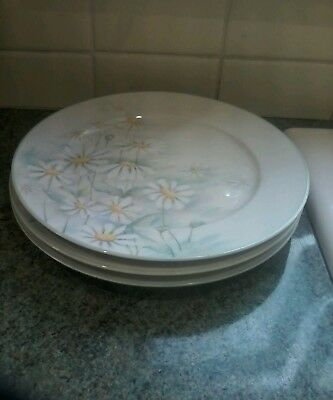 Denby Pastel Collection Serenade 10.5Ins Dinner Plates X 3 Lovely