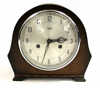 Vintage Wooden SMITHS ENFIELD Wind-up MANTEL CLOCK - Spares/Repairs  - M04