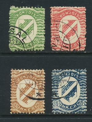 NORTH INGERMANLAND 1920, VALS TO 50p VF USED Sc#1-4 (SEE BELOW)