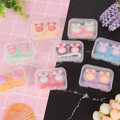 Lovely S multicolors mini portable contact lens case holder contact lenses boxes