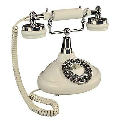 PM81920 - White Brittany Neophone 1929 Vintage Decorative Rotary Telephone