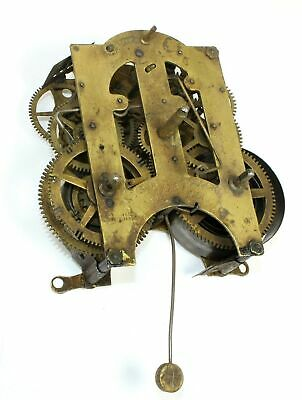 Ansonia 8 Day Time And Strike Clock Movement - For Parts Or Repair - Sp211