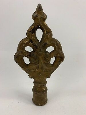 Vintage Heavy Metal Finial With Great Patina