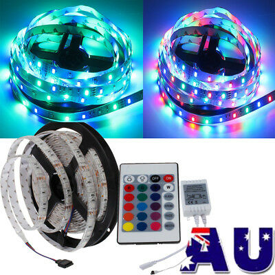 500CM 3528 5050 RGB LED Strip Light Waterproof Lighting Power Adapter Controller