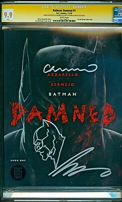 Batman Damned #1 (2018 DC) Sketch Lee Bermejo Signed Brian Azzarello CGC 9.9