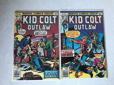 Kid Colt Outlaw #214 and 221 from Marvel comics Western