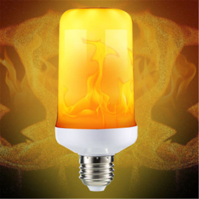 4Modes LED Flame Effect Simulated Fire Light Bulb E27 Flickering Lamp Home Decor