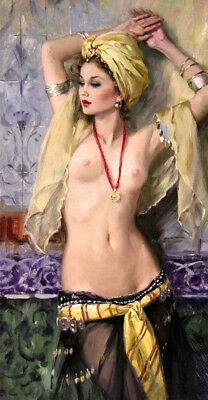Naked dancer Oil Painting Giclee Art Printed on canvas L1959