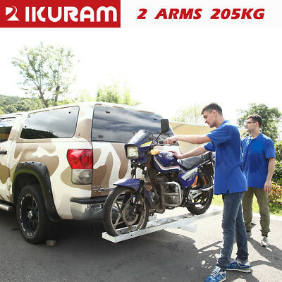 "IKuram Aluminum 2"" Motorcycle Carrier Rack and Ramp Motorbike Dirt Bike Towbar"
