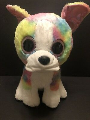 TY Beanie Boo Large Isla the Rainbow Bulldog Soft Toy Claires Exclusive b7a8ec5bb7c2
