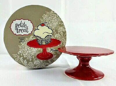 "Rosanna Petite Treat Cupcake Stand in Gift Box - Red 4"" D x 2"" H"