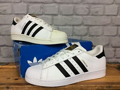 Adidas Originals Mens  Uk 8 Eu 42 White Black Superstar Trainers