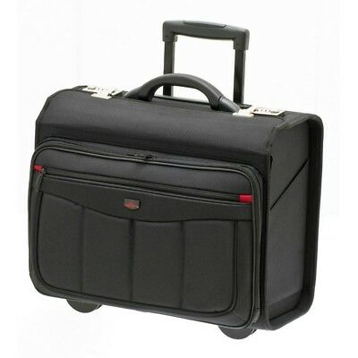 Pilotenkoffer Aktentrolley Laptop Trolley 47x39x24 cm Schwarz Davidts Business