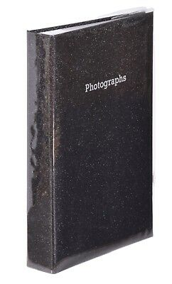 Large Black Glitter Bling Memo Slip In Photo Album 300 6 x 4 Photos
