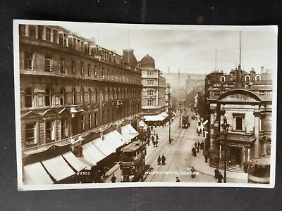 Lovely animated real photo postcard of Murraygate, Dundee, unposted