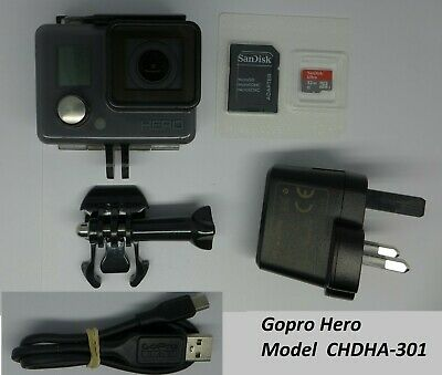 GoPro Hero4 Black Edition + Battery BackPac LCD Screen Charger 32GB memory Card