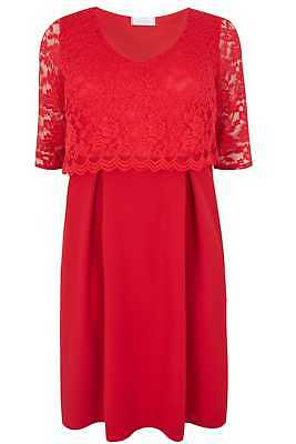 8aed9f5a528a5 Yours Clothing Women s Plus Size Yours London Midi Dress With Lace Overlay