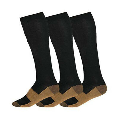 KQ_ Copper Infused Compression Socks 20-30mmHg Graduated Men's Women's S-XXL Coo