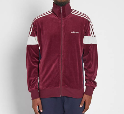 a868c76e2bee30 adidas Originals Challenger Velour Track Top Maroon Jacket CLR84  Size XL