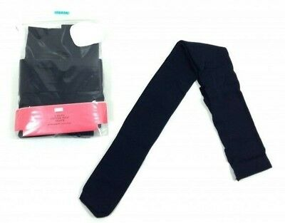 Girls M&S PACK OF 5 Navy Blue School Tights Cotton Rich  Ages 5,6,7,8,9,10 NEW