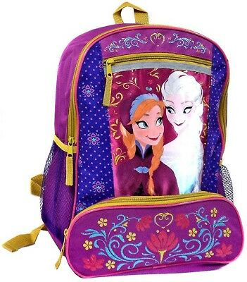 Disney Frozen Anna & Elsa Backpack [Pink with Flowers]