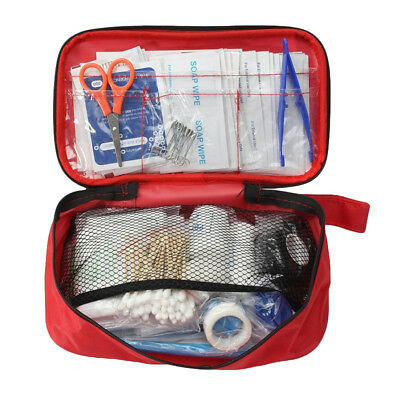 KQ_ 180 Pcs First Aid Kit Camping Hiking Medical Emergency Outdoor Survival Reli