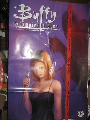 BUFFY THE VAMPIRE SLAYER  COMIC promotional poster VINTAGE  36 X 23