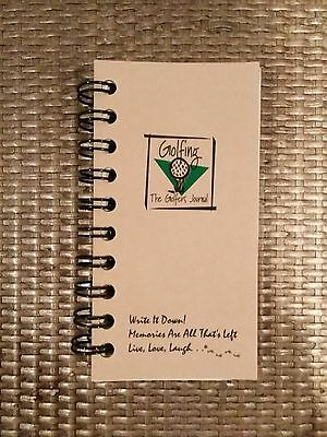 "New 2001 Golfing The Golfer's Journal Pocket Memo Book Document Rounds 3"" x 5.5"""