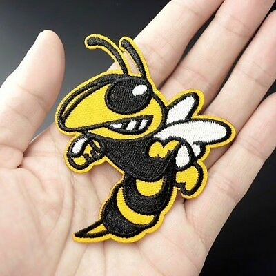 Woven IRON-ON PATCH Sew Embroidery Applique Fashion Badge CARTOON BEE/WASP