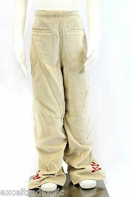 JACADI Girl's Archive Camel Soft Pants With Leaf Embrodery SZ 10 Years NWT