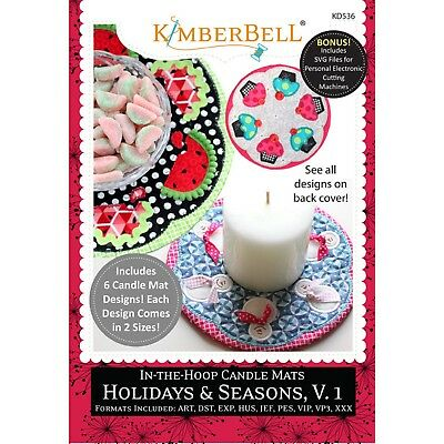 Kimberbell In-The-Hoop Candle Mats: Holidays & Seasons, Volume 1