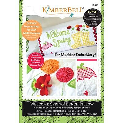KIMBERBELL BENCH PILLOW Embroidery Designs on CD with SVG
