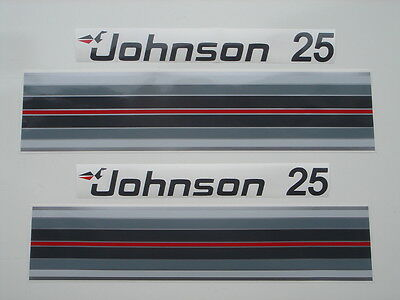 1982 Johnson Outboard Hood Decals 25/35 hp