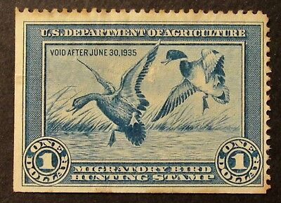 RW1 - 1934 Federal Duck Hunting Stamp -