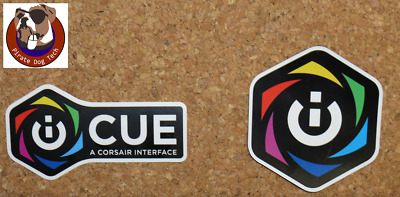 POWERED BY CORSAIR Sticker For PC Case Badge 25x25mm US
