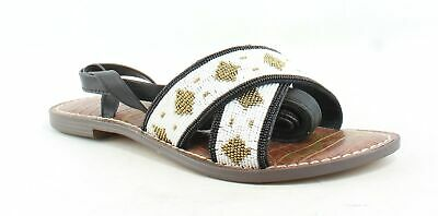 62f0aa9c231b SAM EDELMAN GALINA Womens Sandals Rhinestones accents Black Leather ...