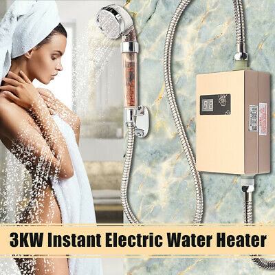 Portable Electric Hot Water Heater Outdoor Camping Caravan Instant Shower System